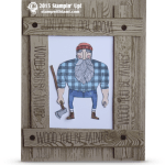 CARD: Wood You Be Mine Lumberjack Card