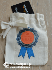 stampin up graduation bag