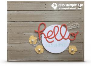 stampin up wood panels card