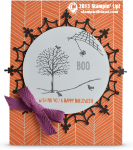 Stampin Up Happy scenes Hauntings stamp set Holiday catalog card idea for Halloween