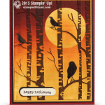 stampin up among the branches fc swap card halloween