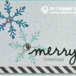 CARD: Holly Jolly Part I – Merry Snowflakes card