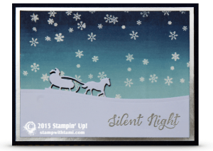 stampin up open sleigh card
