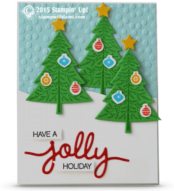 stampin up peaceful pines holly jolly card today s stinkin cute christmas tree