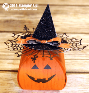 stampin up curvy box pumpkin halloween