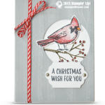 CARD: Joyful Season Christmas Wish Cardinal Card