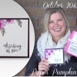 """VIDEO: September Paper Pumpkin Alternate """"Beautiful Bouquet"""" Card & Giveaway"""