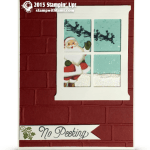 "CARD: Santa in the Window ""No Peeking"" Card"