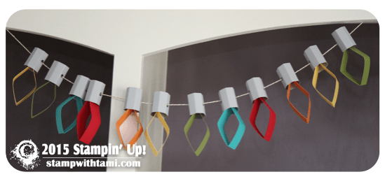 stampin up paper light garland 2