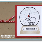 CARD: Fleece Navidad Sheep in a Snow Globe