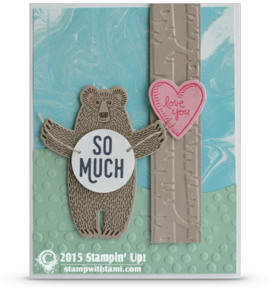 SNEAK PEEK Bear Hugs Love You So Much Valentines Card