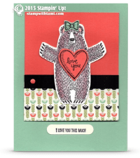 stampin up bear hugs stamp set