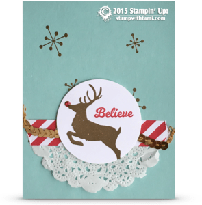 stampin up jolly christmas card