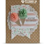 CARD: Sweet HoneyComb Happiness Ice Cream Cones