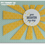CARD: You Brighten My Day Sunburst