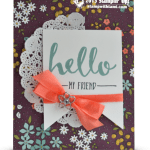 CARD: Hello My Friend from the Sale-a-Bration Catalog