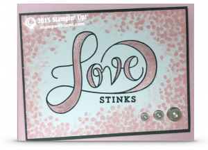 stampin up love stinks 1
