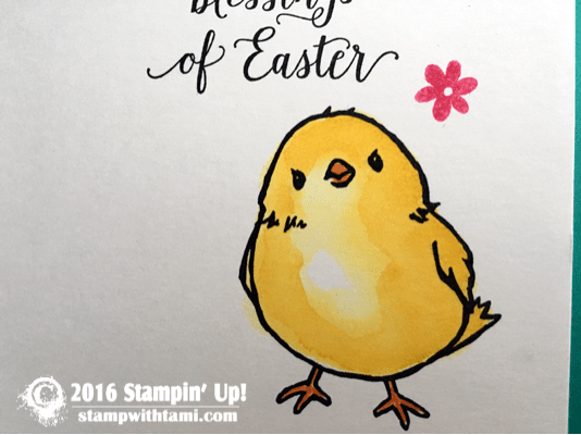 stampin up easter watercolor chick