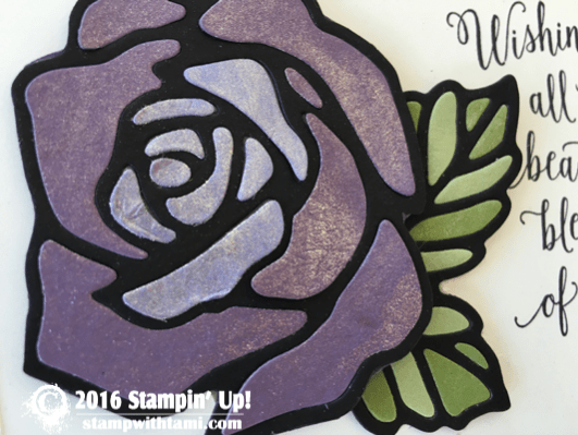 stampin up stained glass easter rose