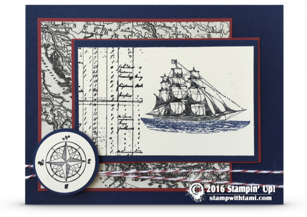 Stampin up the opne sea 2