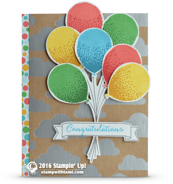 stampin up balloon celebration card