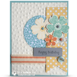 CARD: Flower Shop Card & Stampin Up's On Stage Event & Winner Announcement
