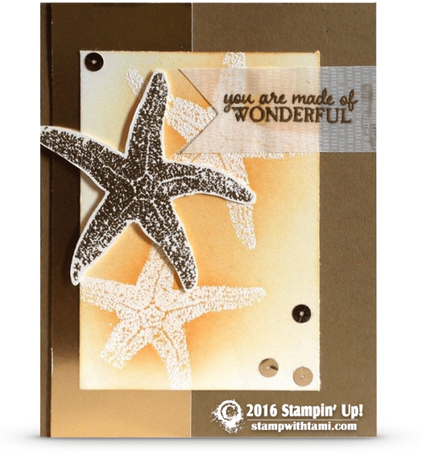stampin up picture perfect starfish card