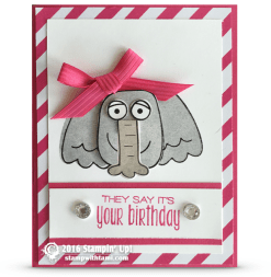 stampin up playful pals elephant card