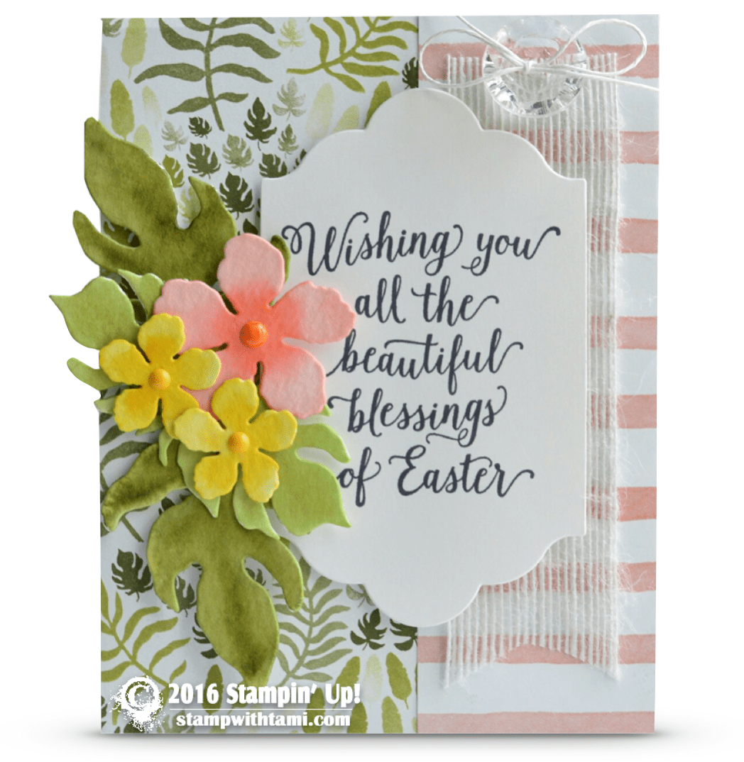 Card Wishing You All The Beautiful Blessings Of Easter Stampin Up