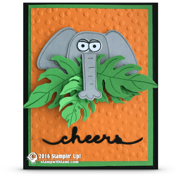 playful pals elephant card