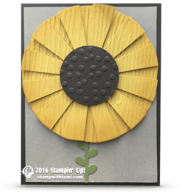 stampin up sunburst sunflower