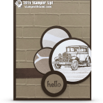 "CARD: Guy Greetings Classic Car – Perfect ""Man Card"""