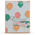 SNEAK PEEK: Birthday Banners Balloons Card