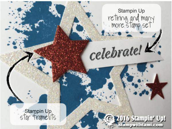 stampin up star patriotic star card
