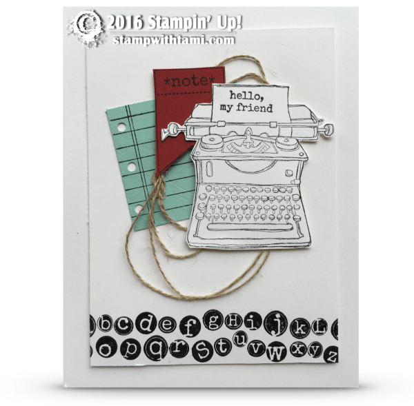 stampin up tap tap tap card