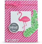 a pop of paradise stampin up falmingo card