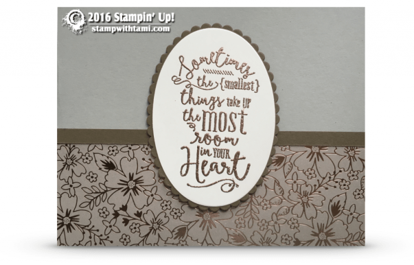 layering love copper embossing stampin up