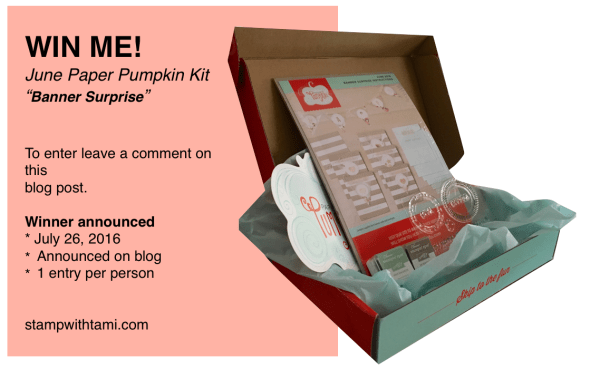 paper pumpkin giveaway june 2016