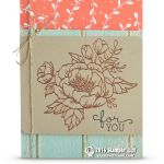 CARD: For You Copper embossed Birthday Blooms