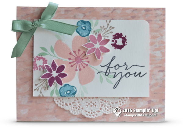 stampin up blooms and wishes