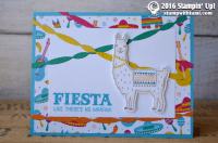 stampin up birthday fiesta llama card