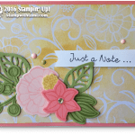 CARD: Beautiful 'Just a Note' Card
