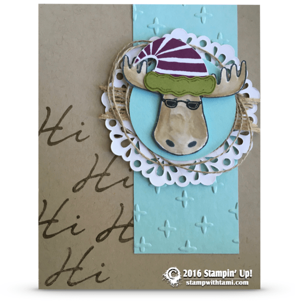 stampin up jolly friends moose card1