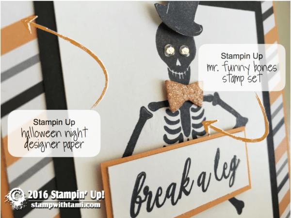 stampin up mr funny bones skeleton card 1