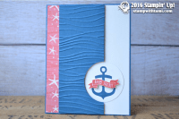 stampin up seaside shore card