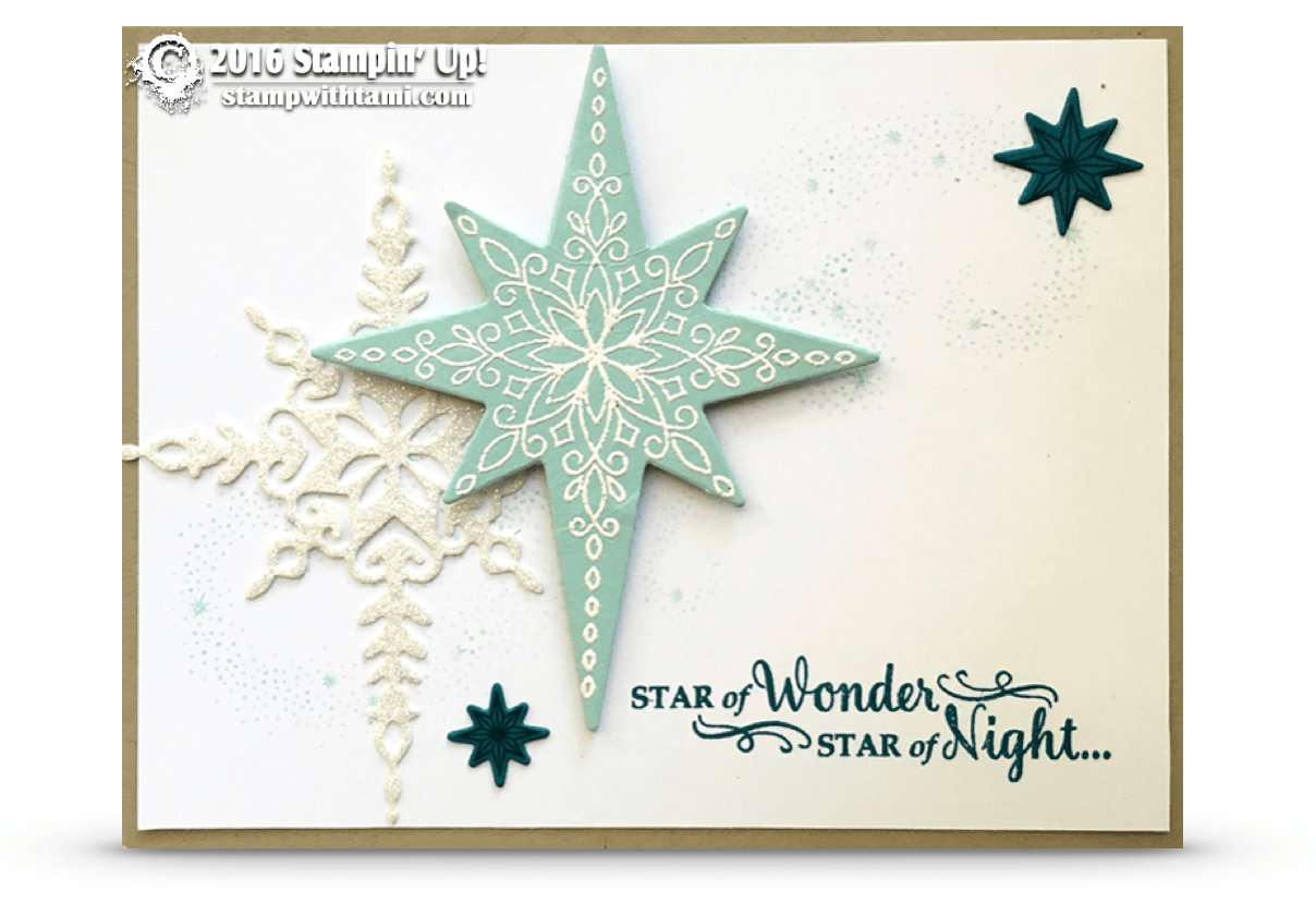 CARD Gorgeous Sparkly Star Of Light Card Stampin Up
