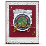 CARD: Beautiful Holly Jolly Layers Christmas Card