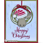 CARD: Jolly Friends Moose Ornament Christmas Card