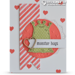 CARD: Adorable Monster Hugs for Valentines day