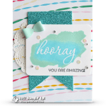BLOG HOP: Amazing card created with SAB new Glimmer Paper & Reverse Words